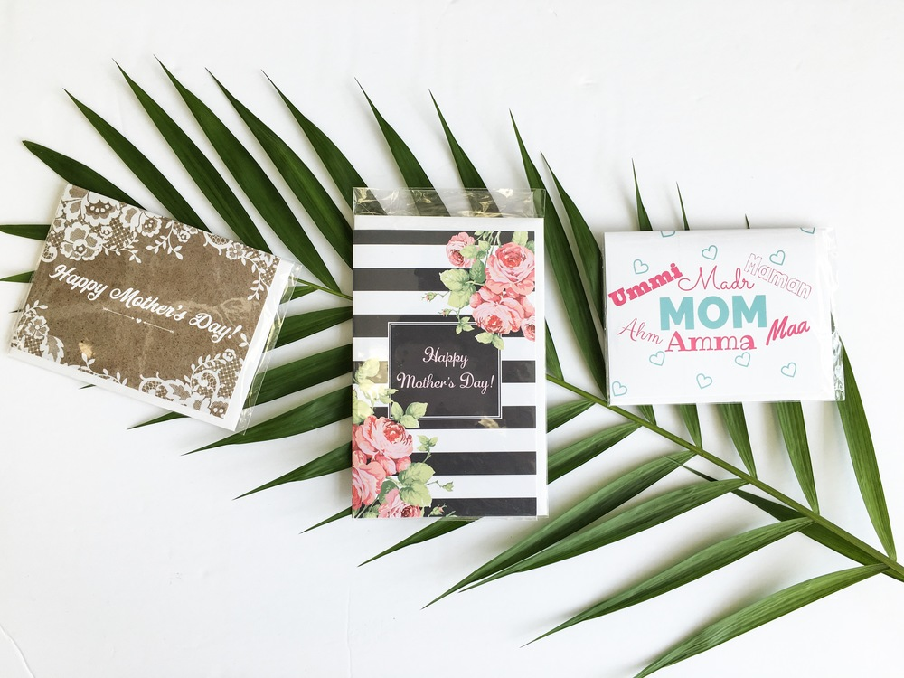 Made with Hab Mothers Day greeting cards available at The Date Palm.