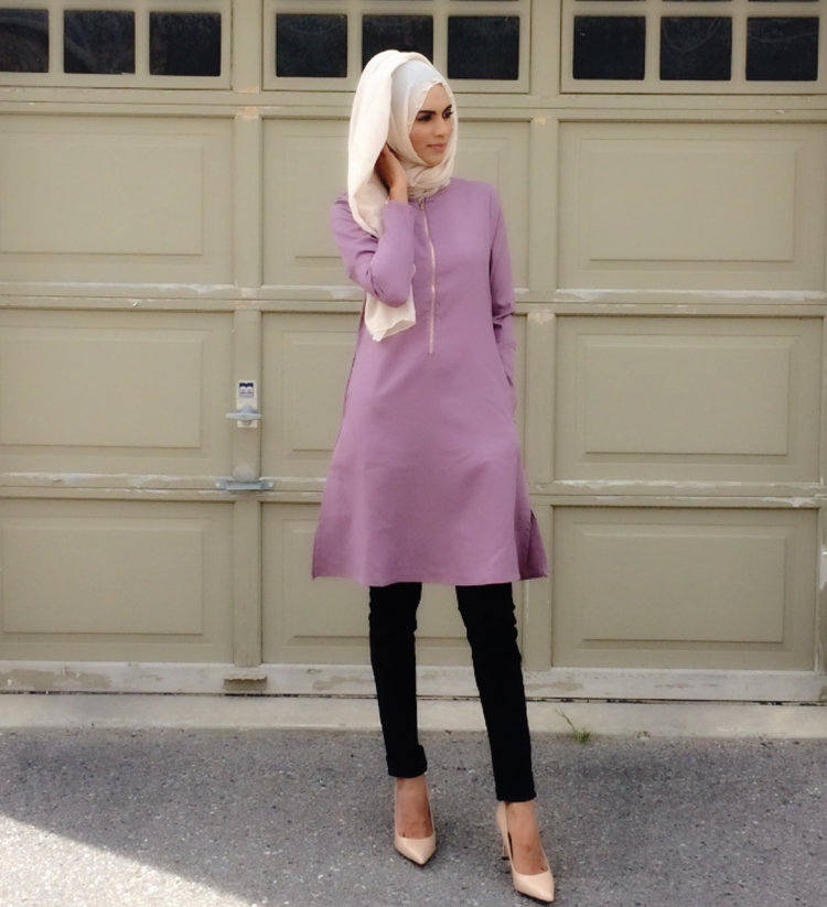 f39fc4c16af8f Effortless and comfortably stylish. This mauve long tunic  ($45) falls  just