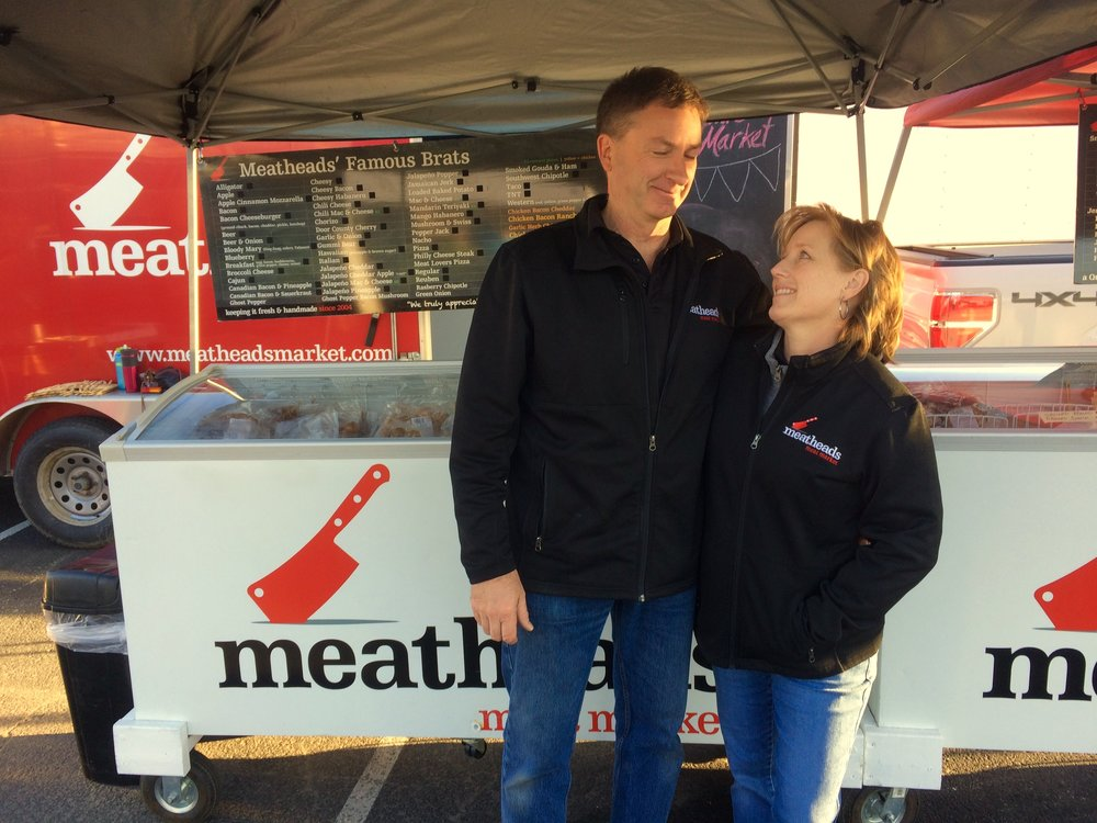 Owners of Meatheads Meat Market, Lisa and Bruce  (Mom and Pop)