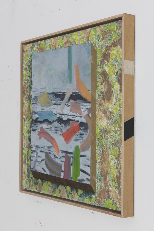 Seascape on wallpaper (side view)