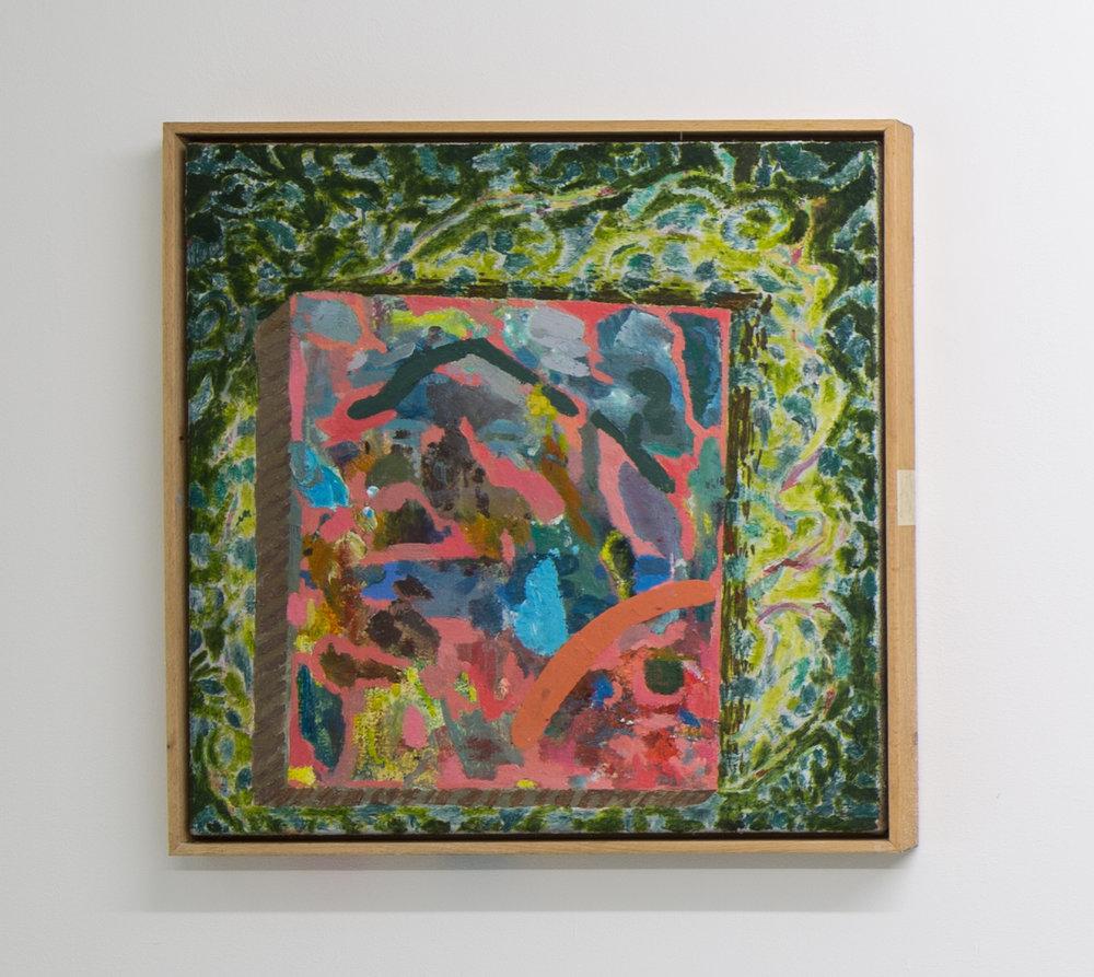 Spotlit painting (landscape)
