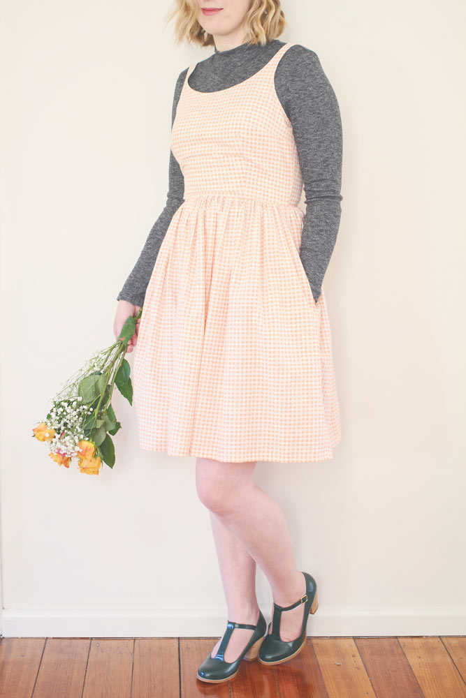 rosery apparel eva peach gingham