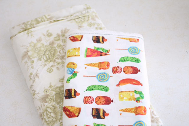 the hungry caterpillar fabric