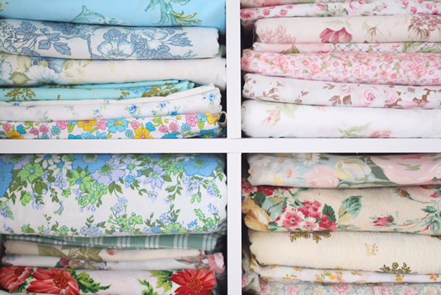vintage fabric stash