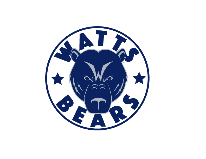 Watts Bears - The Watts Bears was started as a program to serve the youth residing in one of the most gang affiliated and recurrently violent communities of South Central Los Angeles. The Watts Bears were created by LAPD officers from the Southeast Division, with these officers coaching student athletes in Football and Track and Field.  The teams were created to give underprivileged youth in Watts a chance to play organized sports but on a larger scale, and to positively change the historically strained relationship between the police and the community of Watts.