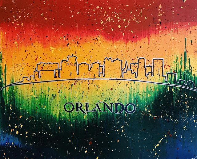 "Today, we stand #United with our beloved city of Orlando, commemorating the 49 lives lost a year ago today. It's been bittersweet, seeing the memorials, tributes, and most of all, UNITY present around the city. Today the city of Orlando has named June 12th as ""Orlando United Day: A Day Of Love And Kindness."" Today, we are ALL #OrlandoStrong. This painting is hanging at Orlando Regional Medical Center, just blocks from Pulse, where their courageous and hardworking staff treated many of the Pulse Victims.  #OrlandoUnited • • • • • #exploreyourcity #vsco_cam #aroundorlando #acolorstory #igers_orlando #artifactuprising #abmspring #abmlifeiscolorful #socality #orlandope #Orlandodoesntsuck #tribearchipelago #lovefl #myunicornlife #orlando #theartofvisuals #sayhello #travelstoke #tribearchipelago #lovefl #myunicornlife #theartofvisuals #sayhello #travelstoke"