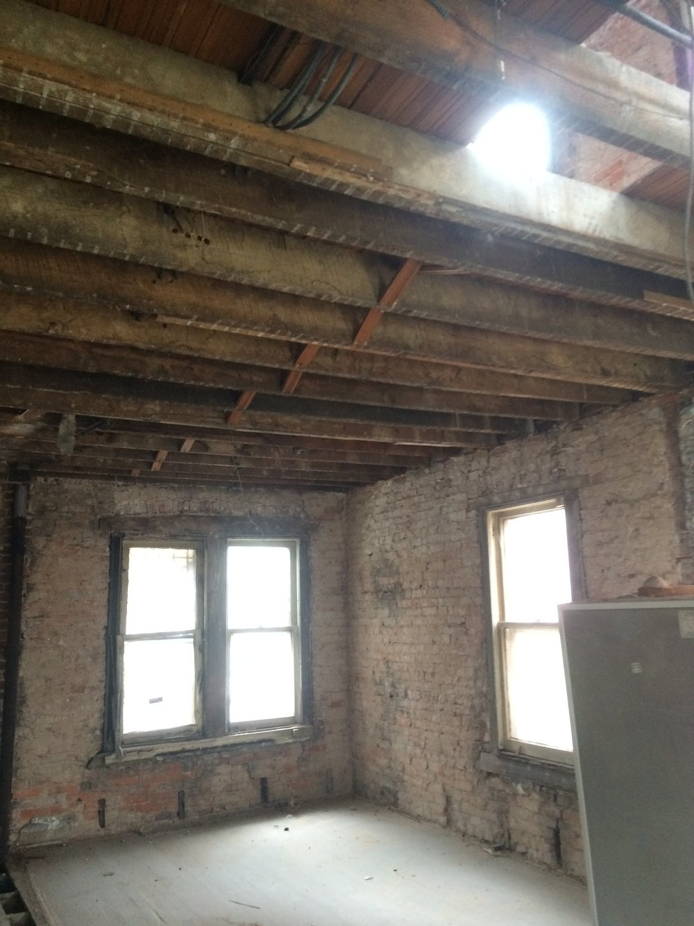 2nd floor after interior demolition