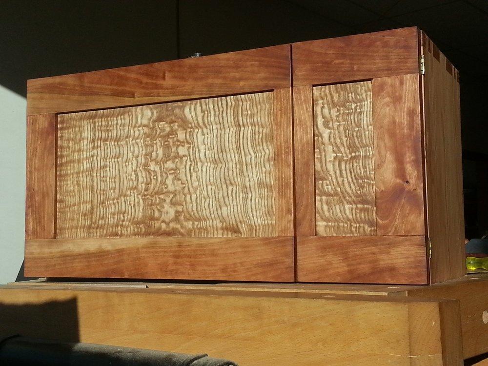 Custom Cherry & Ash Cabinet
