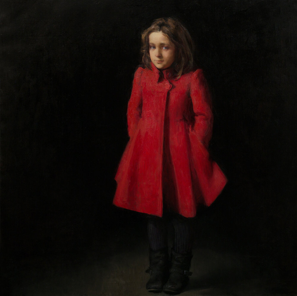 Eva, Oil on canvas 110x110cm