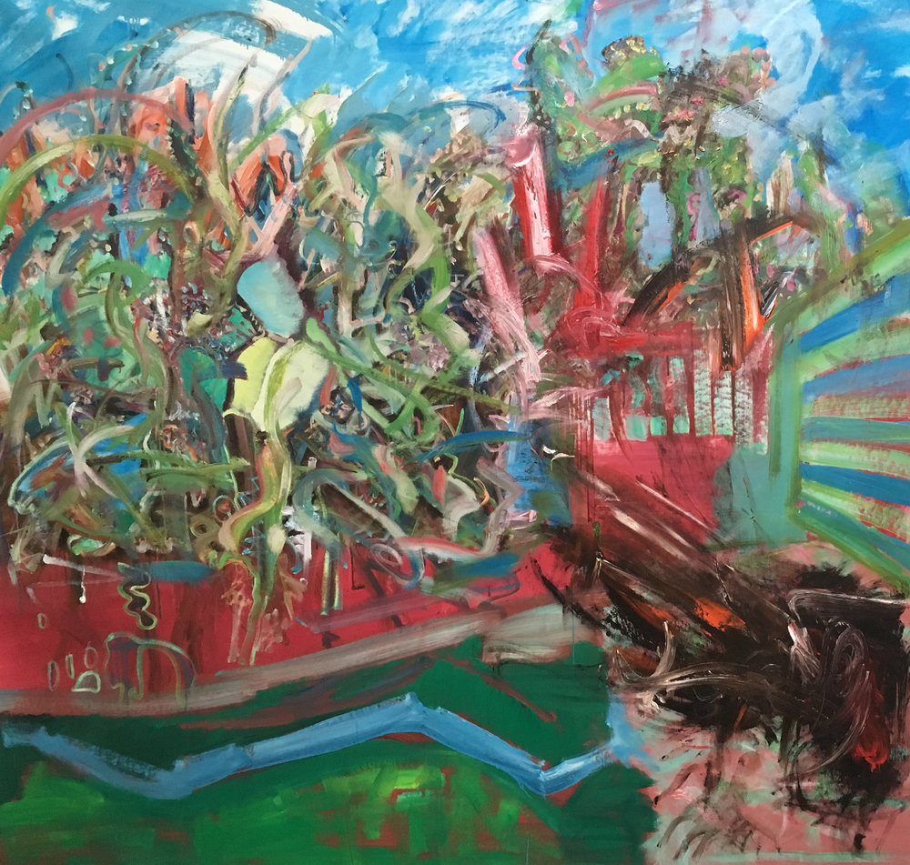Jakob Veigar Sigurdsson-Somet thing in the garden-2018-155x160cm-oiloncanvas.jpg