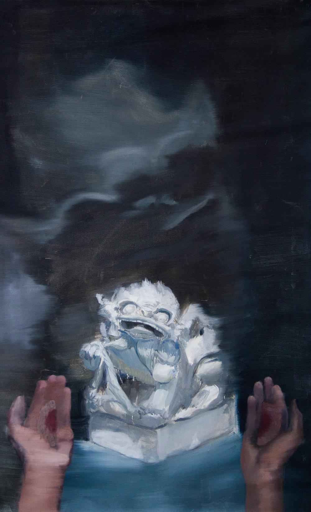 Nacho Vergara_Prayer_2018_80x50_Oil on canvas.jpg