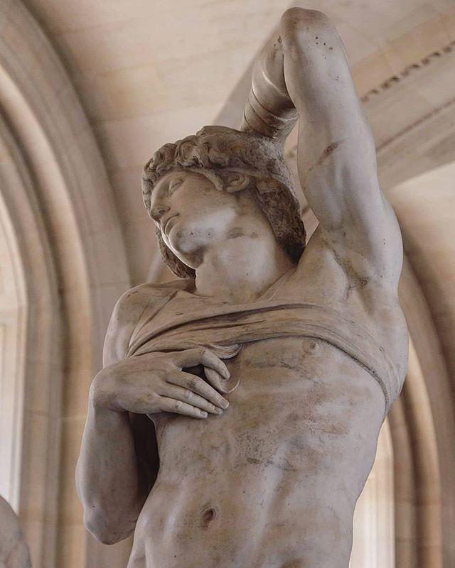"✴️ QUOTE OF THE DAY ✴️ ""The greatest artist does not have any concept which a single piece of marble does not itself contain within its excess, though only a hand that obeys the intellect can discover it."" ― Michelangelo Buonarroti, Sonnets.  In the picture: 'Dying_Slave' by Michelangelo, @museelouvre.  Let us know how do you feel about these words! . . .  #michelangelo #firenze #renaissance #igersfirenze #igers_firenze #louvre #quoteoftheday✏️ #tiacacademy #sculpture #marblesculpture #sensual #realism #figurativeart #contempiraryfigurative #artecontemporanea #classicart"
