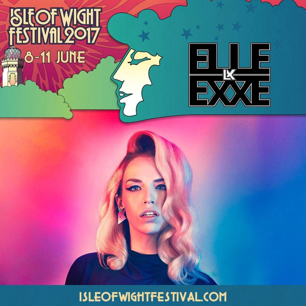Win 2 x Tickets! - At 3:50pm on Saturday 10th June Elle Exxe will be performing in the Big Top Tent (alongside Zara Larsson, Example + more)! We have a couple of tickets to giveaway, if you want to enter the competition to win an amazing weekend at Isle of Wight Festival click here.