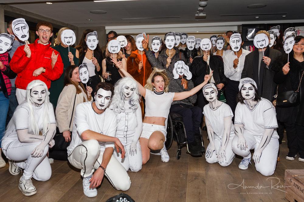 Elle Exxe, 'Catapult' video launch party, MAC Cosmetics, London,