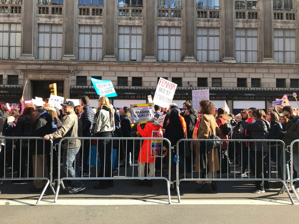 Women's March, NYC, January 21,2017 (Photo: K. Ostruszka)