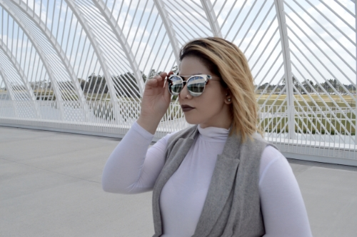 (White turtle neck - Charlotte Russe , Sunnies - Forever 21)