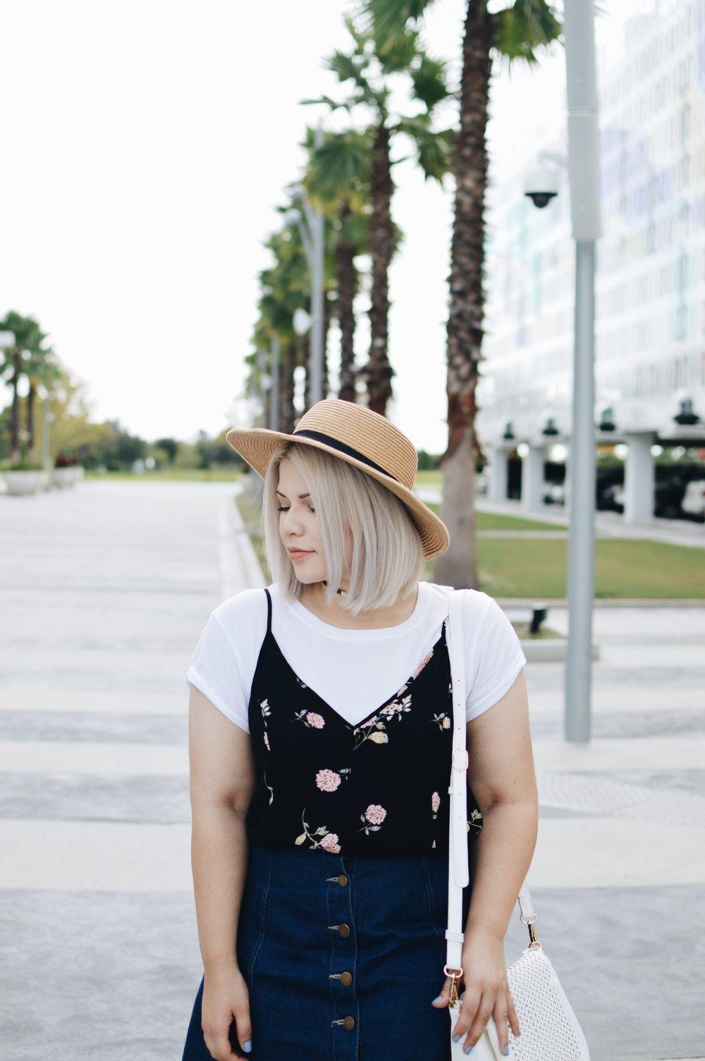 T-shirt   H&M  , Dress   TJMaxx  , Skirt   Charlotte Russe
