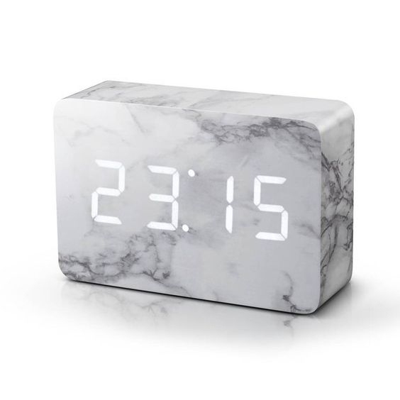 MARBLE DIGITAL CLOCK