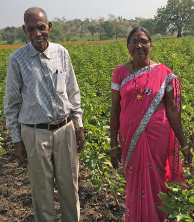 Raphael and Tashila Bhuria on their farm.