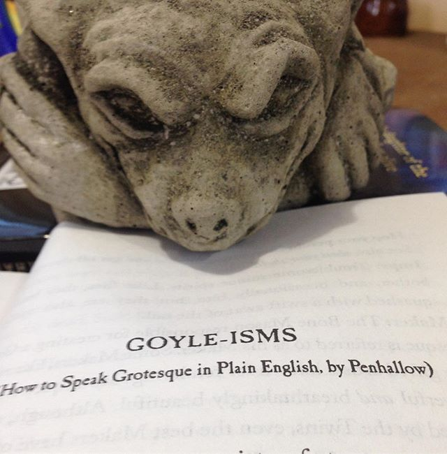"Time to get to know Penhallow better with some Goyle-isms. Let's start with his least favorite things: ""Netherkin:  Awful, malignant spirits. The only good Netherkin is a well-digested one."" #thelastgargoyle 26 days to go..."