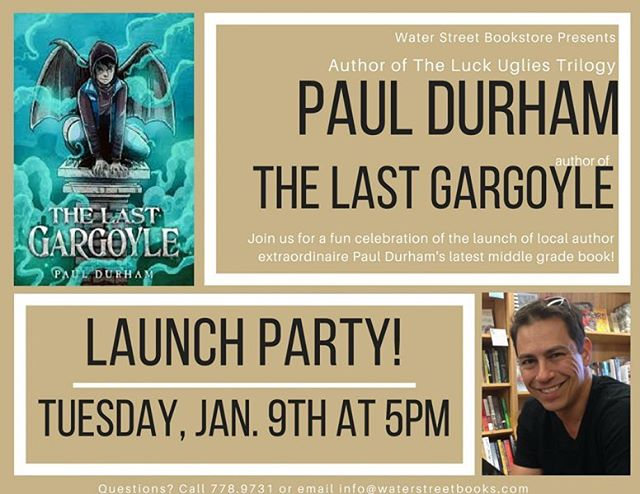 21 days until #TheLastGargoyle goes on sale which means it's time to announce a Launch Party! Pack the rafters at @waterstreetbooks 5pm January 9.