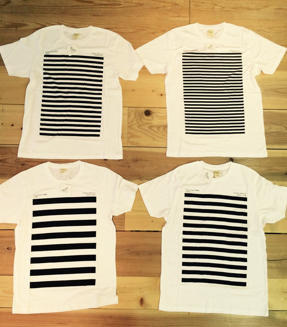 Border Shirtsizer Original T-Shirts - 1st Edition (Bass, Alto, Tenor, Soprano) Designed by Hideyuki Yamano