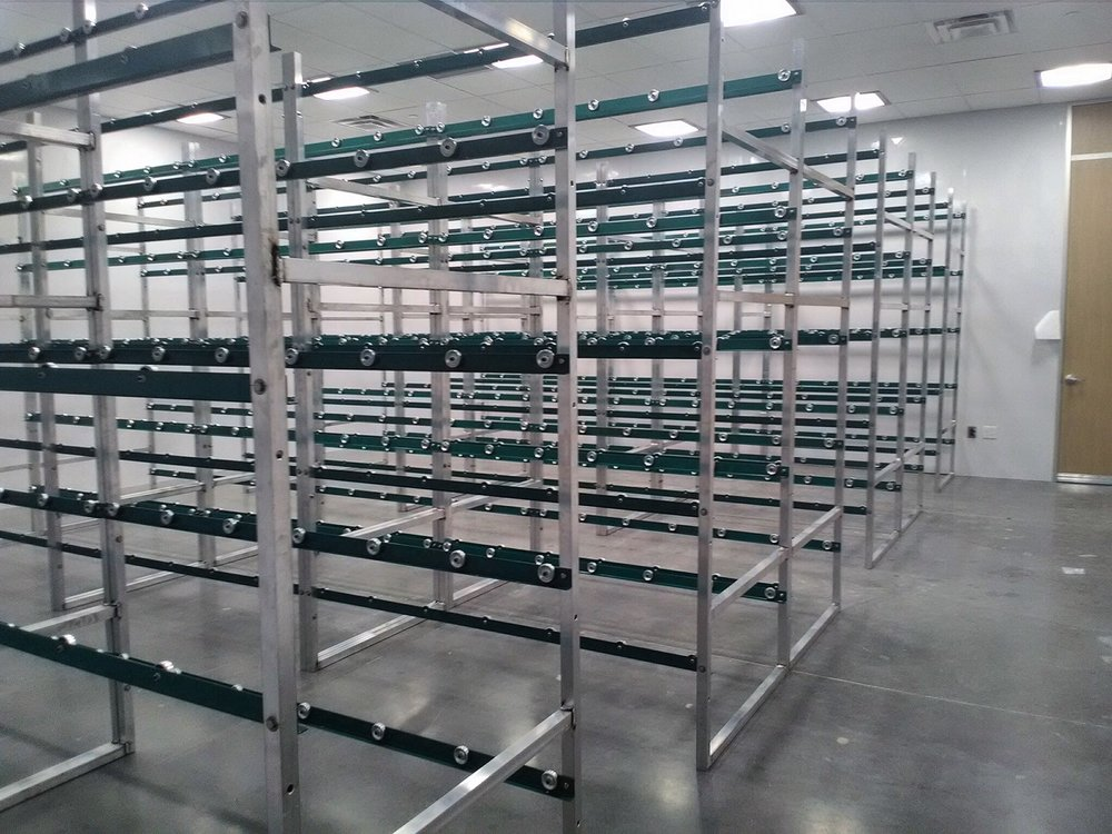 Aluminum conveyor rack Assemblies