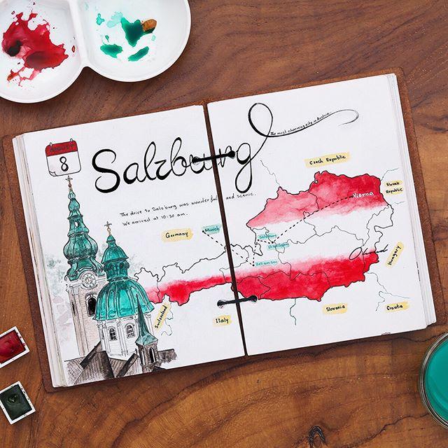 The way to #Salzburg ❤️