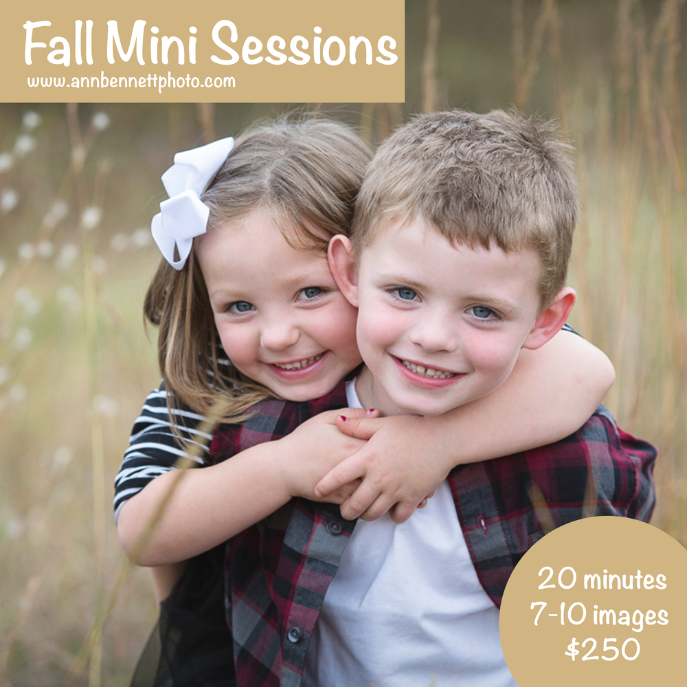 Tulsa fall mini photo sessions