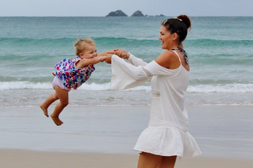 Hanging out with Summer at Watego's Beach in Byron Bay