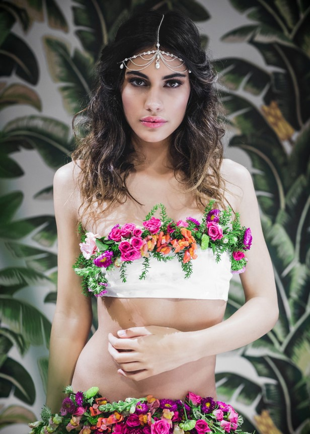 Floral bikinis in the urban jungle. Love this creation by mastermind Julia Rose. A photo-shoot so tropical you can almost smell the coconut...