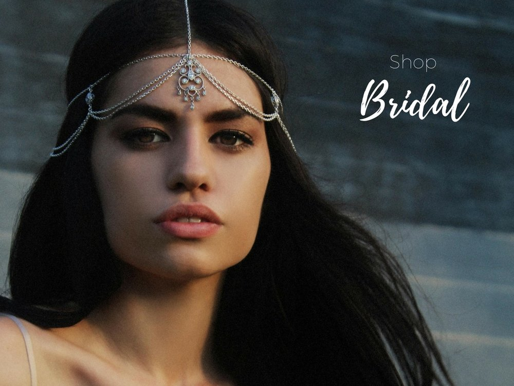 Komorebi bohemian bridal headpiece
