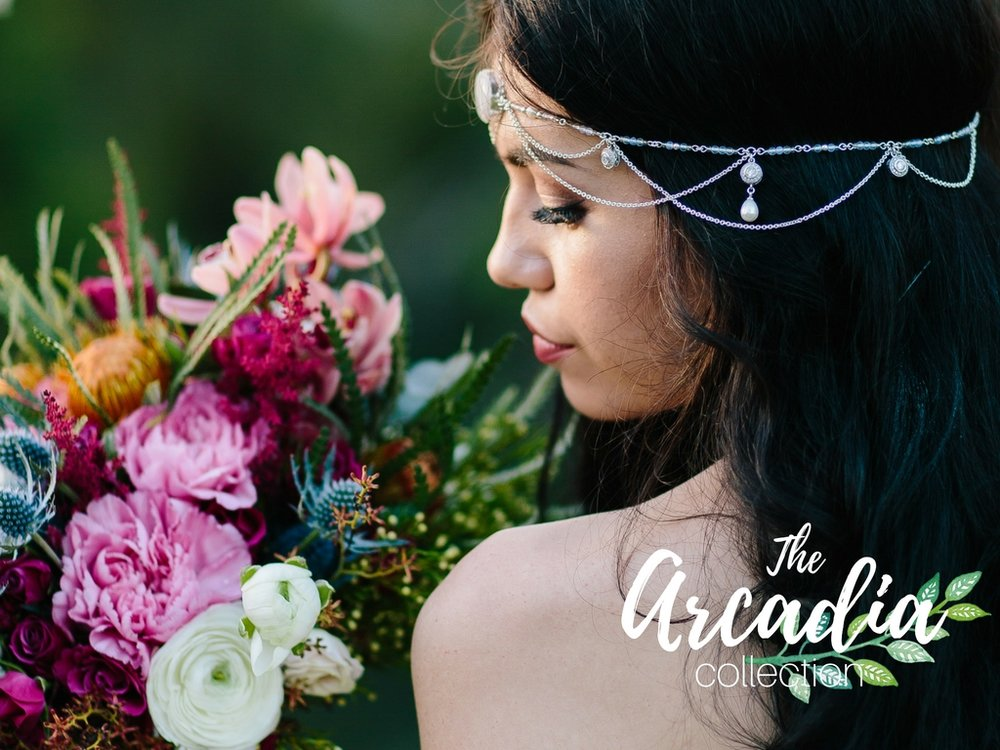 Komorebi bride moonstone headpiece arcadia Airlea