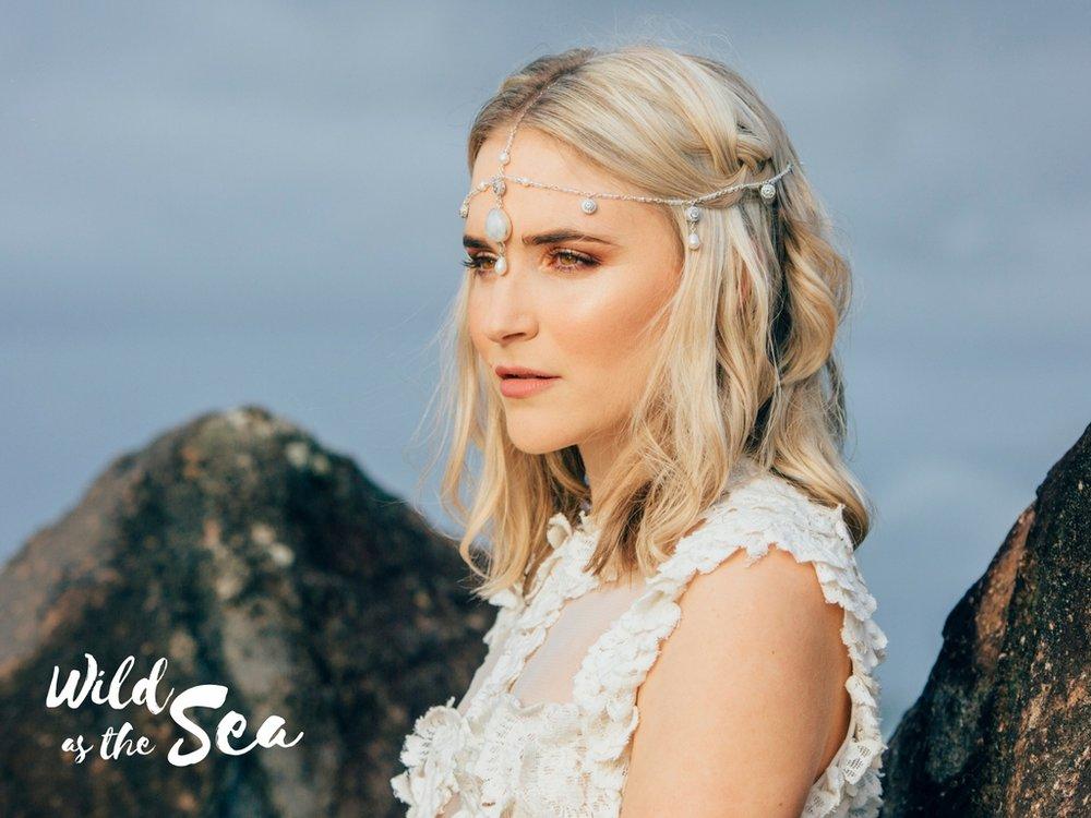 Komorebi Bride headpieces Wild as the Sea Zephira