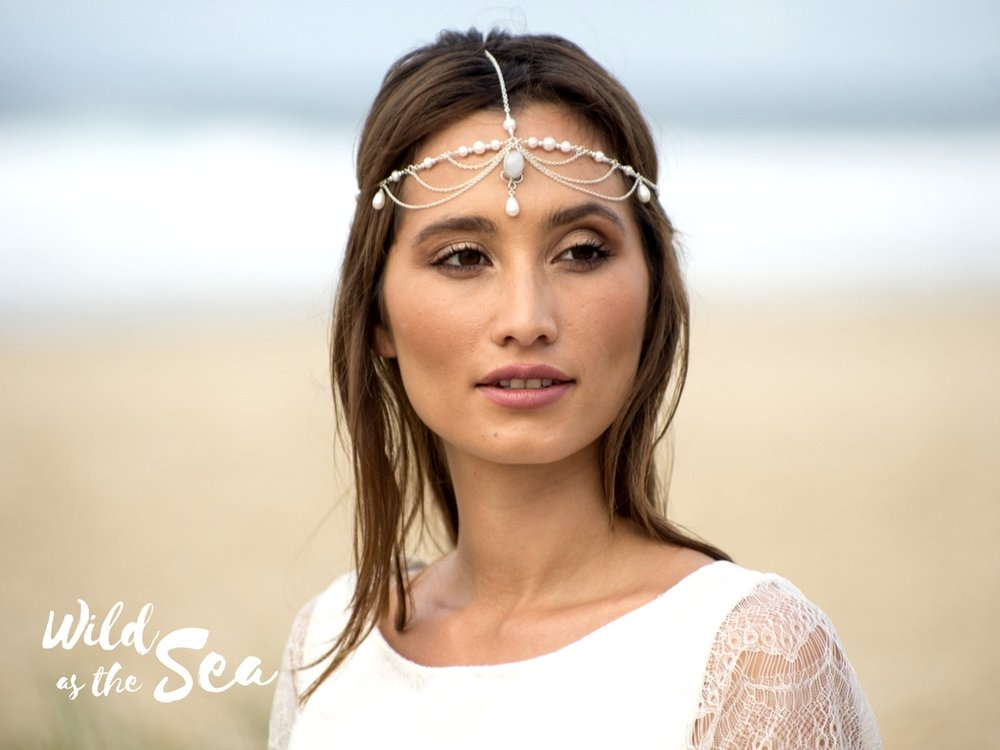 Komorebi Bride headpieces Wild as the Sea Siren