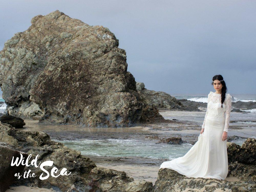 Komorebi Bride headpieces Wild as the Sea Luna priestess