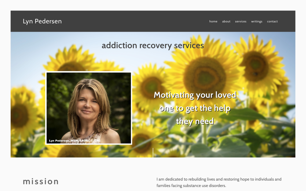 Lyn Pedersen, Addiction Recovery Services
