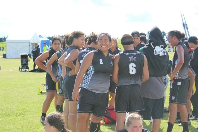Students from Te Kura Maori o Nga Tapuwae, 2017 Ki o Rahi Nationals