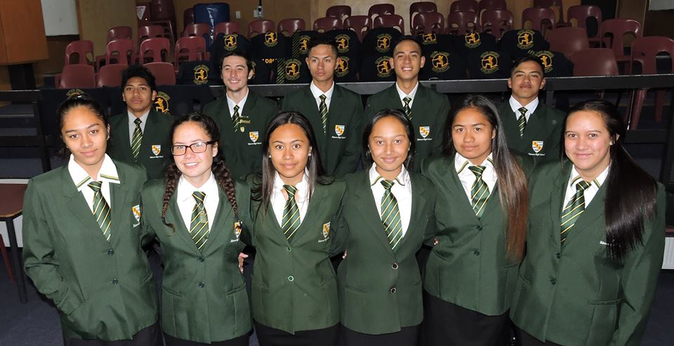 Students from Tokoroa High School, 2016 Ki o Rahi Nationals