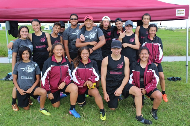 Students from UAWA (Tolaga Bay Area School), 2017 Ki o Rahi Nationals