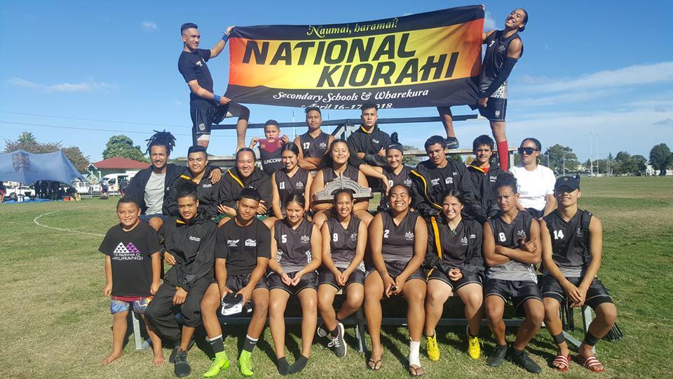 2018 New Zealand Secondary School Ki o Rahi Champions - Te Kura Maori o Nga Tapuwae