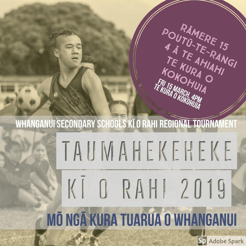 2019 Whanganui Secondary School Ki o Rahi Regional Tournament