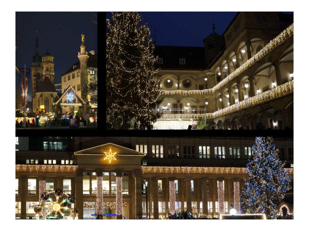 Stuttgart in strahlender Weihnachtsdekoration