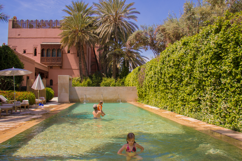 Enjoying the main pool Royal Mansour