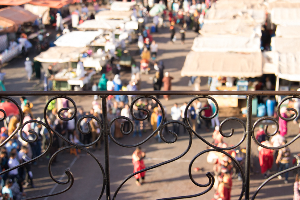 On walking distance: place Jamaa el Fna, Marrakesh