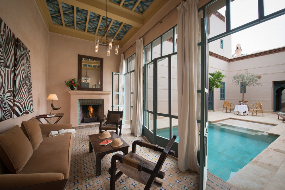 On of the villas with a pool