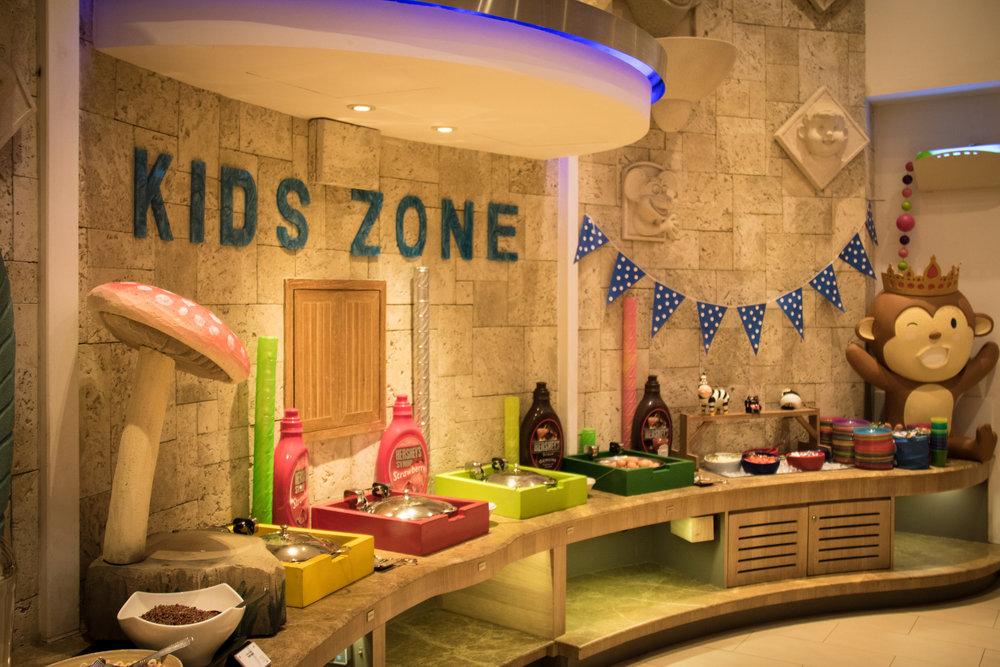 The Kidszone in the restaurant