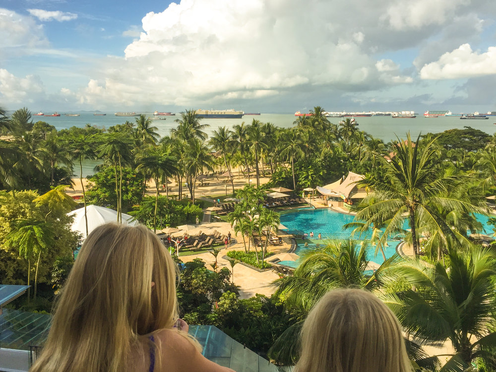 View from the balcony of our suite