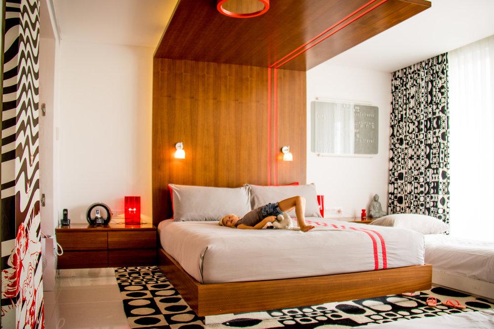 The red room at Luna2 studiotel