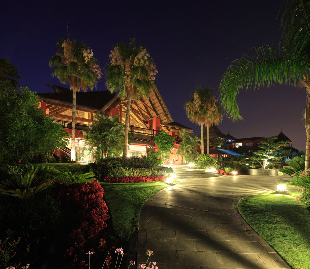 Asia Gardens at night